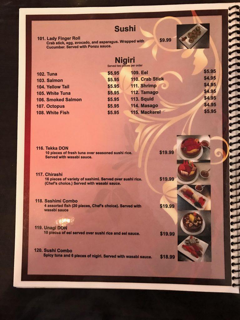 Mekong Thai & Vietnamese & Sushi – Menu – El Paso – Rural Fork